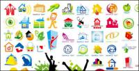 Maison thème logo vectoriel graphique matériel