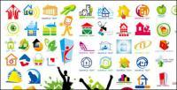 Material gráfico de vetor para logotipo casa tema