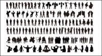 Personnes silhouette vecteur