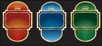 Étiquette de style européen orné de vecteur