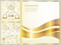 ベクトル黄金リボン ラベル