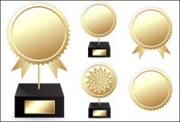 Vector troféus medalhas