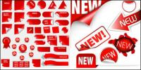 Venda de material de vetor ícone decorativos com desconto