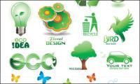 Ícones de Vector verde