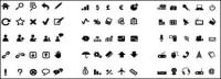 Ícone de vetor simples em preto e branco material