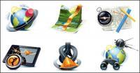 Matériau vecteur de voyageurs rubrique icône