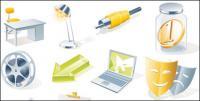 Icône de bureau, matériel de vecteur