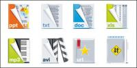 Arquivo formato ícone vector material
