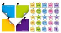 Matériau vecteur de papier notes icône