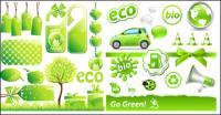 저탄소 녹색 테마 아이콘 벡터 소재