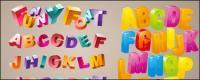 Милые объемные буквы вектор
