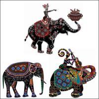 Этнические таможенный штраф декоративной росписи вектор
