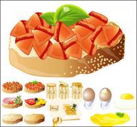 Rica e deliciosa comida) (material de vetor