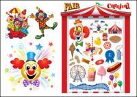 Клоун & карнавал вектор материала