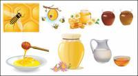 蜂蜜の蜂のベクトル材料を収集します。