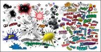 Elementos cómicos de vectores