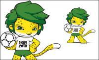 Mascota de la Copa del mundo 2010 vector