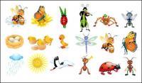 Симпатичные карикатуры вектор насекомых
