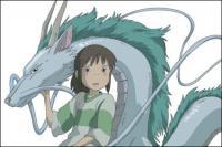 Ratones pintan con el Dragón Blanco Vector Chihiro