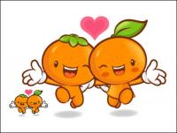 Amor la fruta super cartoon Vector 9