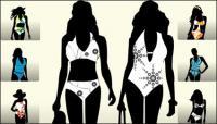 Модели подиуме силуэт вектор
