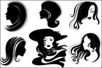 ベクトルの女性ヘッド