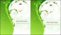 Vektor-Marienkäfer grün