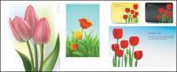 Vetor de tulipas de material