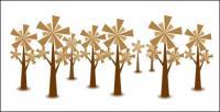 Material de vetor de árvore