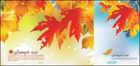Latar belakang vektor musim gugur