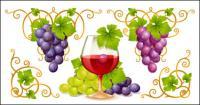 เวกเตอร์เถาวัลย์และไวน์