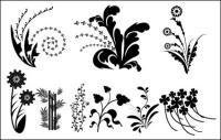 ベクトル シルエット黒と白を葉します。