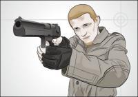 เวกเตอร์ gunmen