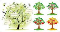Ilustración vectorial de árboles