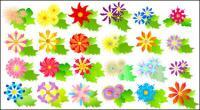 Vetor de flores coloridas de material
