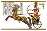 Ramsès II, la bataille de Pierre vecteur Diego carte