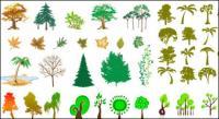 Serie de árboles de vectores