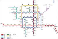 Beijing Subway Line 09 diagram version vektor