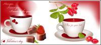 Vector de té por la tarde
