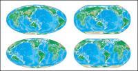 Varios colores versión del mapa mundial del Vector