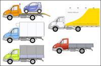5 camiones Vector