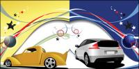 Lignes de vecteur et le mouvement des véhicules