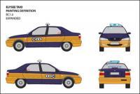 Vector original de vista taxi Jetta IV