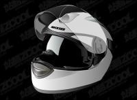 casque de moto réaliste vecteur