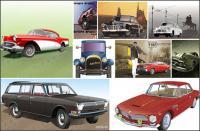 Neuf types de voiture de cdr format vectoriel