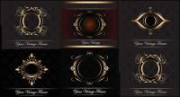 Gold Grenze Europas-Muster-Vektor-material