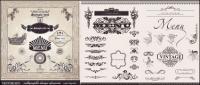 Material de vectores de patrón de encaje decorativo Europeo