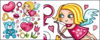 唇;赤ちゃんクマ;キー;バラの花カーネーション