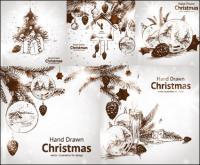क्रिसमस की सजावट वेक्टर शैली हाथ से पेंट
