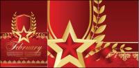 Red five-pointed star Bookmarks 01